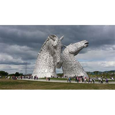 The Kelpies Forth & Clyde Canal Falkirk Scotland