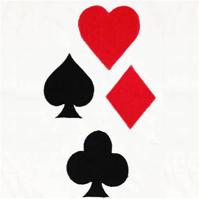 Playing Card Symbols Designs Cards Heart Embroidery