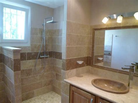 salle de bains travertin salle de bains en pierres naturelles azur agencement