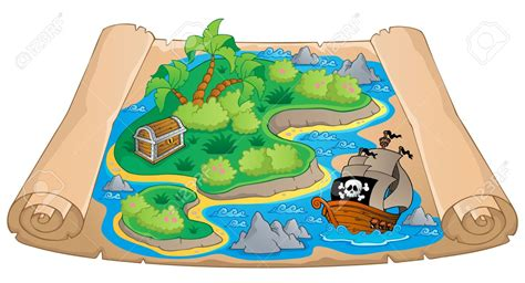 Treasure Island Map Clipart Collection