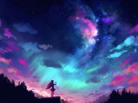 Colorful Anime Wallpaper - anime and colorful sky hd wallpaper