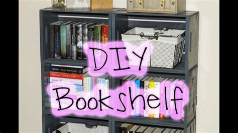 diy easy wooden crate bookshelf youtube