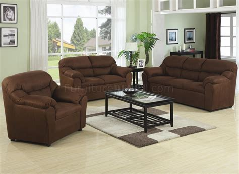 Decor Sofa Set by Brown Fabric Modern 3pc Sofa Set W Pillow Padded Arms