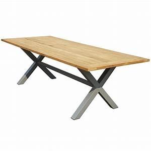 Table D Extérieur : table d ext rieur castelo 240 x 100 cm en teck et aluminium trigano store ~ Teatrodelosmanantiales.com Idées de Décoration