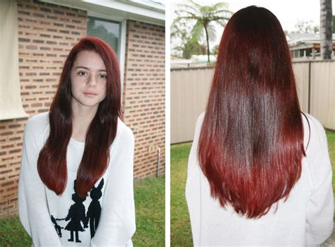 Hair Dye Tutorial Dark To Light Shades Of Red Gorgeous