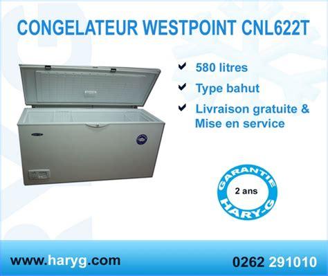 congelateur coffre livraison gratuite congelateur coffre westpoint type bahut 1 porte pleine cnl622t