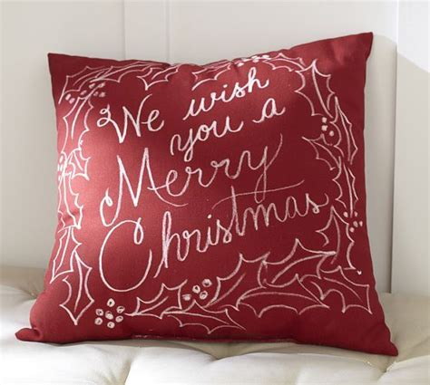 we wish you a merry christmas indoor outdoor pillow