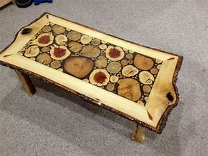 log slice coffee table with sassafras white by With sliced log coffee table