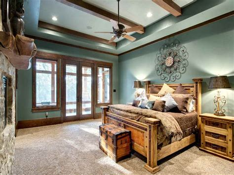 Rustic Bedroom Mountain Lodge Rustic