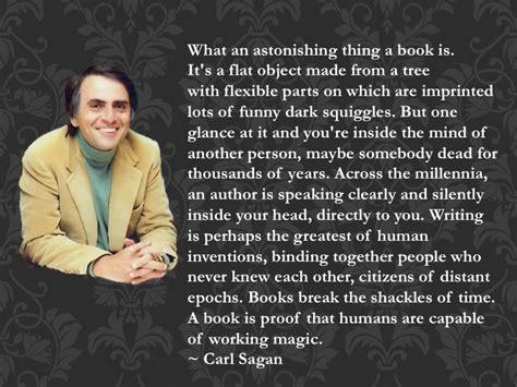 dr rhia blog  minute piece carl sagan quote  books