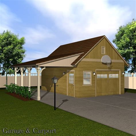 Garage & Carport Set 3d Models Richabri