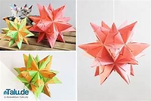 Sterne Aus Papier Falten : bascetta stern aus papier basteln faltanleitung ~ Buech-reservation.com Haus und Dekorationen