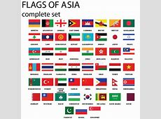 Asian flags stock vector Image of artwork, emirates