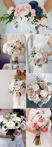 15, adorable, navy, blue, and, blush, pink, wedding, bouquets