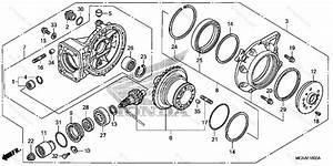 Honda Motorcycle 2008 Oem Parts Diagram For Final Driven Gear