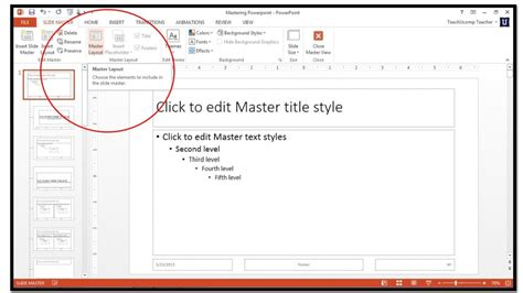 how to use slide masters in powerpoint 2013 teachucomp inc