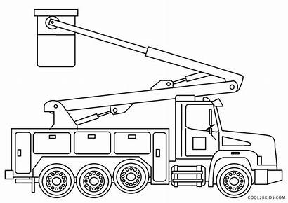 Coloring Truck Colouring Printable Tow Bucket Dump