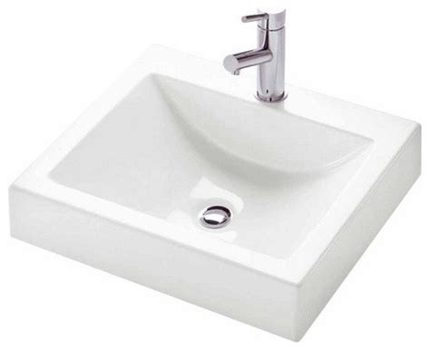 Modern Above Counter Bathroom Sinks by Zen Square Above Counter Sink Modern Bathroom Sinks