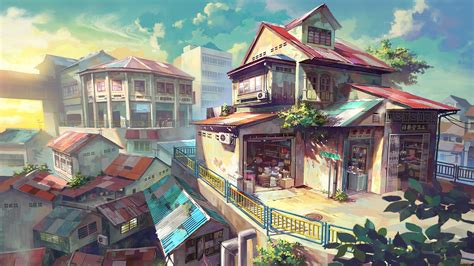 Hd Anime Landscape Wallpaper Anime Scenery Wallpapers Group With 74 Items