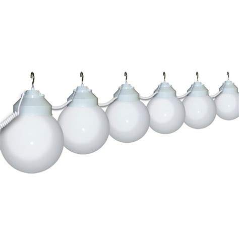 6 quot white globe string light set