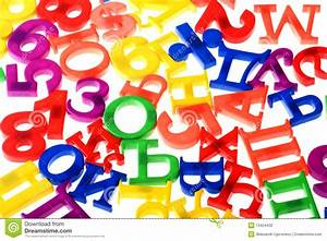 plastic numbers and letters closeup stock photography With plastic letters and numbers