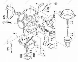 Arctic Cat Atv 2004 Oem Parts Diagram For Carburetor