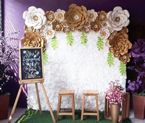 inspirasi paper flower  latar dekorasi acara