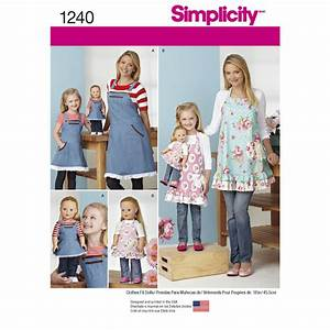 """Pattern for Aprons for Misses, Children and 18"""" Doll"""