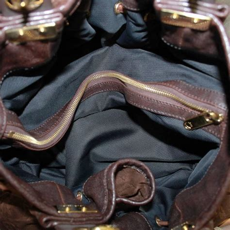 louis vuitton irene espresso suede patent leather limited edition large handbag  stdibs