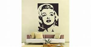 Marilyn monroe vinyl wall art decal for Kitchen cabinets lowes with wall art marilyn monroe