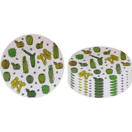Better Homes and Gardens Melamine Cactus Dinner Plate 8pk