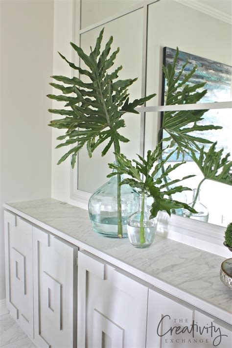 easy decorating  palm fronds branches  greenery