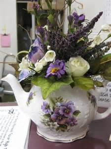 Flower Arrangement with Teapot