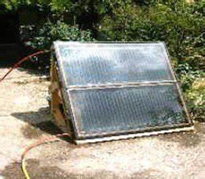 construire ou faire un panneau solaire conseils de With panneau solaire thermique fait maison