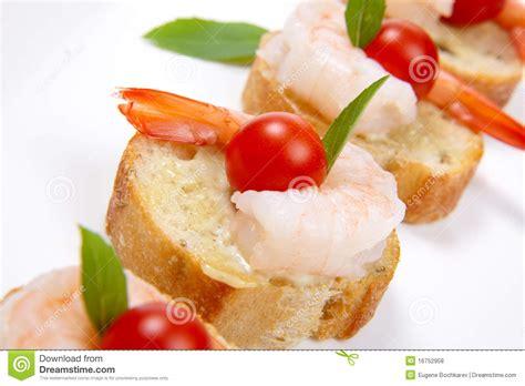 canapes with prawns shrimp canape stock photo image of organic closeup