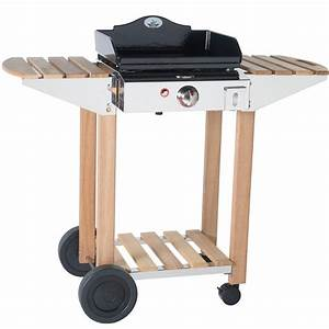 Chariot Plancha Forge Adour : chariot forge adour en bois et acier inox pour plancha ~ Nature-et-papiers.com Idées de Décoration