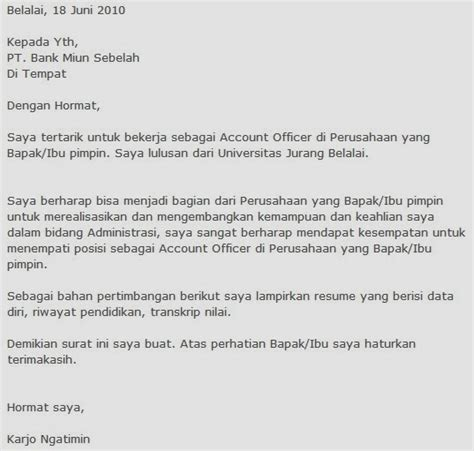 contoh cover letter email bahasa indonesia cover letter