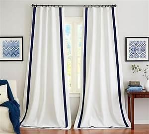Pottery barn room designer, white grommet curtain panels