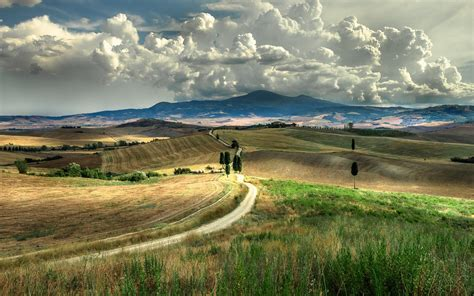Tuscany, Sky, Clouds, Italy, Landscape Wallpapers HD ...