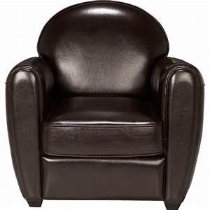 Fauteuil Club Alinea : fauteuil club en cuir marron habana fauteuils et poufs alinea ~ Melissatoandfro.com Idées de Décoration