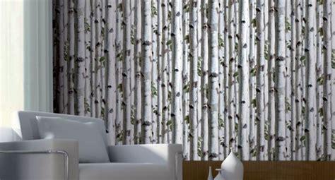 Window Art Mural Curtains by Koziel Birch Tree Trompe L Oeil Wallpaper By Couture D 233 Co