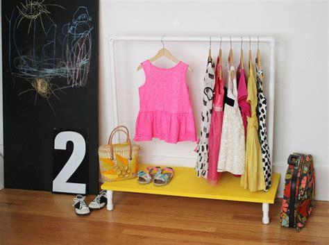 kids clothes rack diy  beautiful mess
