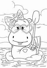 Coloring Pages Hippo Cuties Resting Cute Animal Preschool Bojanke Bontontv Bonton Disney Slatkice Print Tv Books Colouring Printable Printables Sheets sketch template