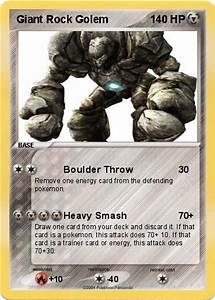 Pokémon Giant Rock Golem - Boulder Throw - My Pokemon Card