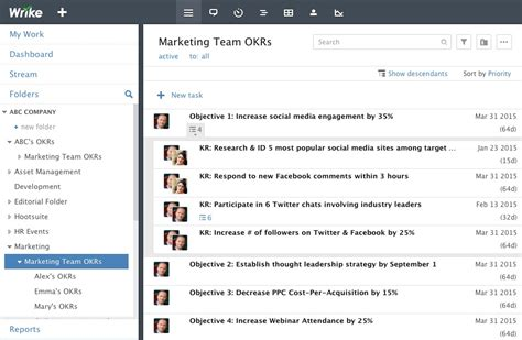 okr template how to use okrs in wrike a 6 step guide templates