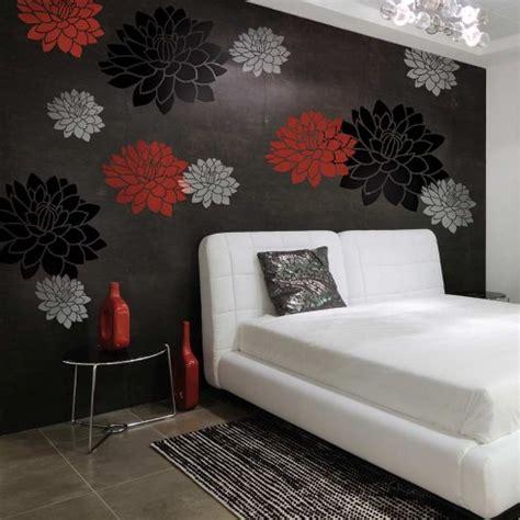 stencil designs for walls dahlias 2 stencil kit medium diy wall
