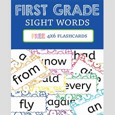 First Grade Sight Words! *flashcards* » One Beautiful Home