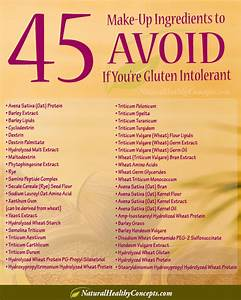 what to avoid in cosmetics if you have celiac disease With cosmetics ingredients list