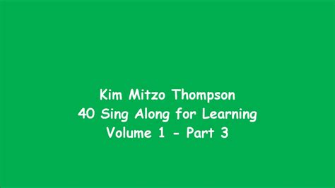 40 Sing Along For Learning Volume One