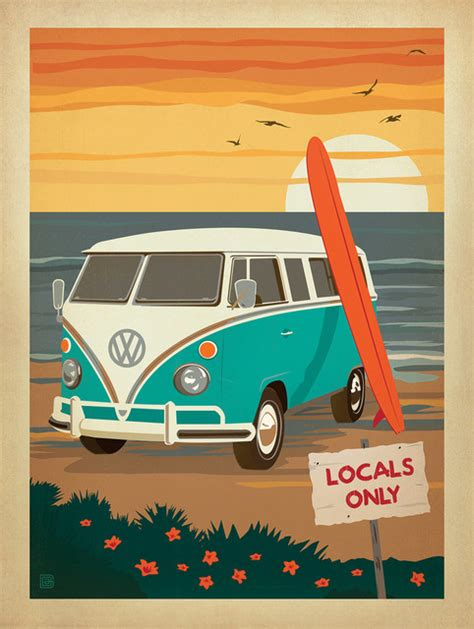dining room tables san locals only vw surf coastal collection gallery print